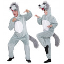 groothandel Sport & Vrije Tijd:  Pluche in wolf  funny  (hooded jumpsuit withmask),