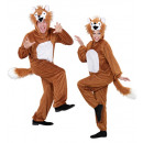 groothandel Sport & Vrije Tijd:  Pluche in fox  funny  (hooded jumpsuit met masker)