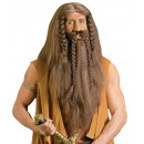 barbarian wig with beard & moustache in box, Hat