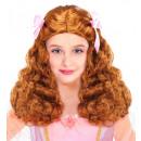 gracieuze Princess pruik met satijn linten  brown
