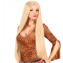 wholesale Toys: extra long wig blonde - 75 cm - in box, Hat size