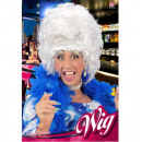 wholesale Garden & DIY store:  white drag queen  wig with flower in box -  for ad