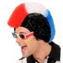 Großhandel Verkleidung & Kostüme: Blau - weiß - rot Fan Mann Perücke in der Box -