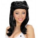 black pin up girl wig in box, Hat size: 0 - for