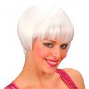 grossiste Jouets: perruque rave blanc - dans une boîte, taille de