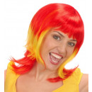 wholesale Toys:  red - yellow -  red supporter woman wig  in box -