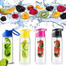 Sport drinking bottle with fruit insert 800 ml TRI