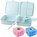 wholesale Lunchboxes & Water Bottles: Multi bread and lunch box with cutlery in 24-er di