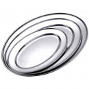 wholesale Crockery: Stainless steel serving plate 30 cm - oval