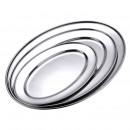 Großhandel Geschirr: Edelstahl Servierplatte 35 cm - oval