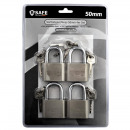 grossiste Quincaillerie: Lot de 4 cadenas de 50 mm - à clé identique