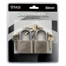 wholesale Ironmongery: Padlock lock oval 50mm - short handle - 2pcs