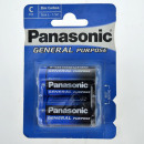 groothandel Batterijen & accu's: Panasonic Battery  Plus (2) R14 baby cel blister