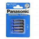 wholesale Batteries & Accumulators: Battery Panasonic  Plus (4) R3 AAA Blister