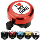 wholesale Bicycles & Accessories: Fahrradklingel  I  LOVE MY BIKE  - 4 colors Mix