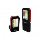 Arbeitslampe COB +  3 LED klappbar mit Clip und Mag