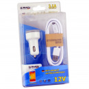 Cars 12V charger kit with micro USB cable