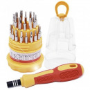 wholesale Garden & DIY store: Screwdriver Set 31  pcs. Precision in 12-Dis