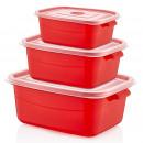 Storage boxes set 3 pcs. - MICROFRESH - angular