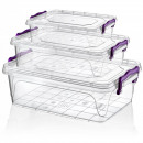 wholesale Gifts & Stationery: Multi Box with lid set 3 pieces - rectangular (02
