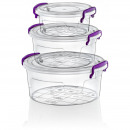 Multi Box with Lid Set 3 Pieces - Round (02 1149)
