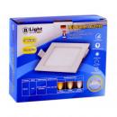 LED flush-mounted panel - 9 Watt - square (neutral