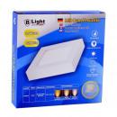 LED pannello di superficie - 16 Watt - Square (bia