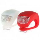 Illuminazione set di silicone 2 x 2 LED bianco / r
