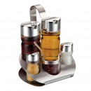 Spice rack - stainless steel cruet set 5 pieces