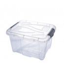 groothandel Opbergen & bewaren: Doos met deksel,  30 liter, 26x49x39 cm, Transparan