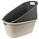 wholesale Laundry: Wicker laundry  basket, 35 L, 25 x 60 x 40 cm,