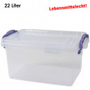 Box with lid & handles, 22 L, 21 x 48.5 x 32cm