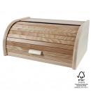 Bread box made of beech wood, 39 x 29 x 18 cm,