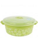 wholesale Houshold & Kitchen: Microwave box, 2  liter, 22 x 8.5cm, green / flower