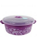wholesale Houshold & Kitchen: Microwave box, 2  liter, 22 x 8.5cm, Purple / Paisl