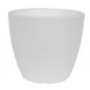 wholesale Garden & DIY store: Planter LINEA, d =  25 cm, H = 21 cm, white