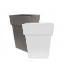 mayorista Sets, cajas de herramientas y kits: Jardinera LINEA,  27x27cm, blanco / gris pardo