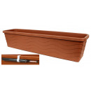 Planter with water tank, 75cm, terracotta