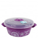 wholesale Houshold & Kitchen: Microwave Can, 1  Liter, Lilac / Paisley