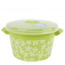 wholesale Houshold & Kitchen: Microwave box, 1.5  liters, green / flowers