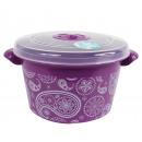 wholesale Houshold & Kitchen: Microwave box, 1.5  liters, Purple / Paisley