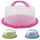 wholesale Casserole Dishes and Baking Molds: Cake container  with handles, d = 34 cm, H = 15 cm,