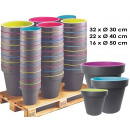 wholesale Garden & DIY store: Planter New York  Mixpalette, 70 parts,