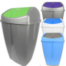 wholesale Houshold & Kitchen: Trash can with  swing lid, 50 L, 66x41x33 cm,