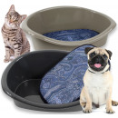 Pet bed with pillow, 18 x 46 x 35 cm,
