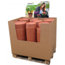 Grosshandel Pflanzen & Töpfe: Pflanzkübel  Display PALERMO, 460 Teile Terracotta
