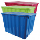 Sorted Box with hinged lid, 75L, colored