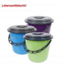 groothandel Reinigingsproducten: Emmer met plastic  handvat en deksel, 5 liter,