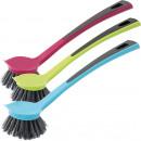 wholesale Cleaning: Brush, dish brush,  round, 26 x 60 x 6.3 cm,
