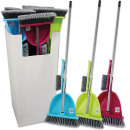 wholesale Cleaning: Sweeping Set, 4  pcs .: Broom + Handle + shovel + b